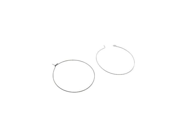 1 inch Stainless steel earring hoops 30pcs (15 pairs) Hypoallergenic / 30 pièces (15 paires) anneaux pour boucle d'oreille en acier inoxydable hypoallergénique