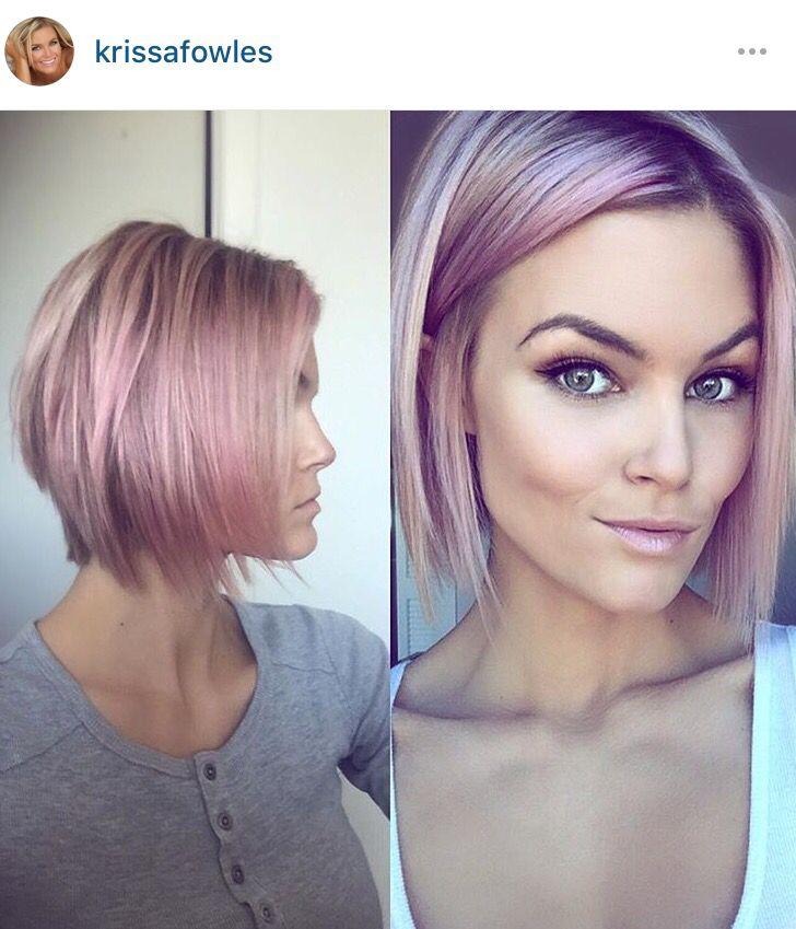 Krissa Fowles pink short hair