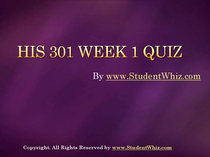 Find University of Phoenix Course HIS 301 Week 1 Quiz Assignments at http://www.StudentWhiz.com/ To Download Complete Tutorial Click on Link Below : http://goo.gl/1Z8CbN