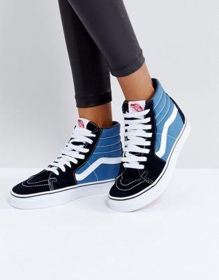 Vans Classic - Sk8 - Baskets montantes - Bleu et noir