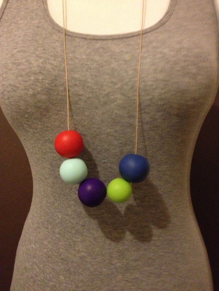 Multi Polymer Ball Necklace