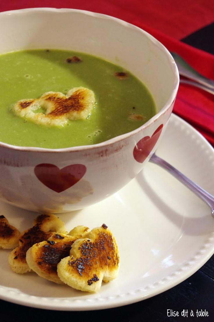 recette Soupe haricots petit pois love saint valentin healthy