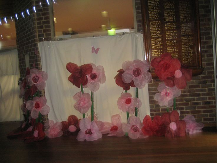 More Giant hand made flowers surrounding the hall - some 300 in total