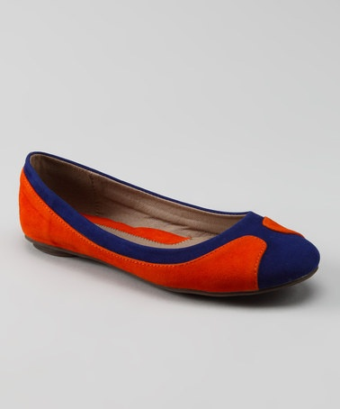 I should totally buy these for the Auburn game this fall! Take a look at this Orange & Blue Mega Flat by GC Shoes on #zulily today!