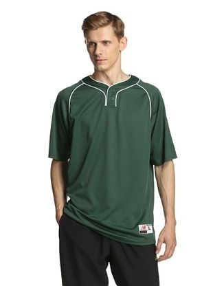 63% OFF New Balance Men's Team Two Button Jersey (Dark Green)