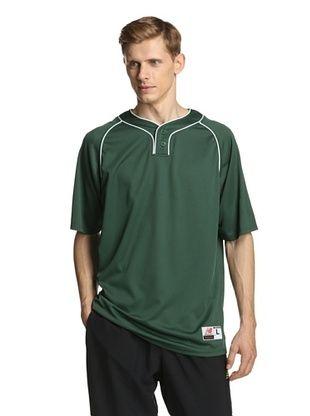 63% OFF New Balance Men's Team Two Button Jersey (Dark Green)