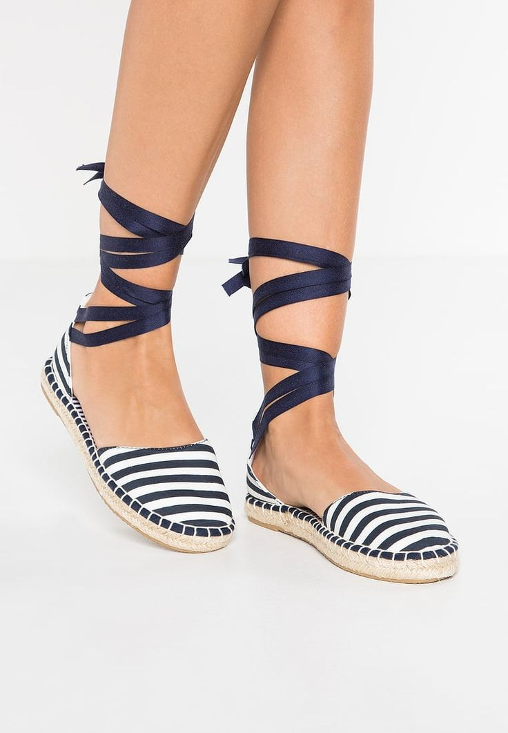 ONLY SHOES ONLESTHER - Espadryle - blue/white - Zalando.pl