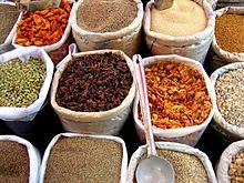 List of Indian spices - Wikipedia, the free encyclopedia  It looks like one spice, but is a mixture of spices, including coriander, cumin, turmeric, ginger, cloves, and others. Spices are used in different forms - whole, chopped, ground, roasted, sauteed, fried and as topping. They blend food to extract the nutrients and bind them in a palatable form.