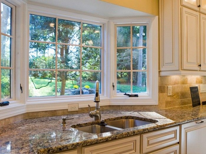 high resolution kitchen bay window 3 posts related to window over kitchen sink ideas - Bay Windows Design