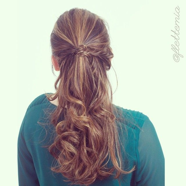 """""""On myself i did the #CGHBraidedHalfUp with fishtail braids and second day curls """" Photo taken by @flettemia on Instagram, pinned via the InstaPin iOS App! http://www.instapinapp.com (04/26/2015)"""