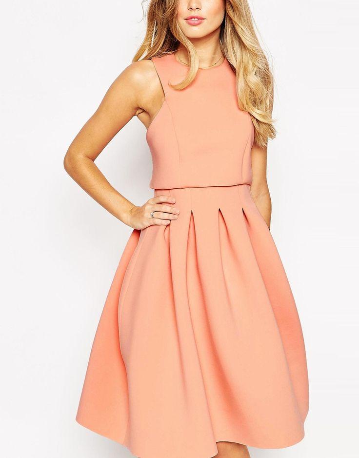 Image 3 ofASOS Debutante Crop Top Midi Scuba Dress