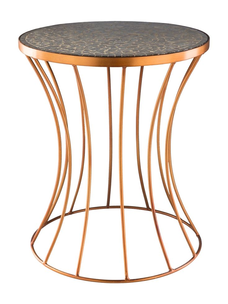 Surya Breccan Accent Table Surya Breccan Accent Copper Accent Table Metal Accent Table Accent Table