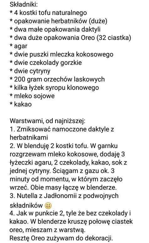 tofurnik  z co jedzą polscy weganie