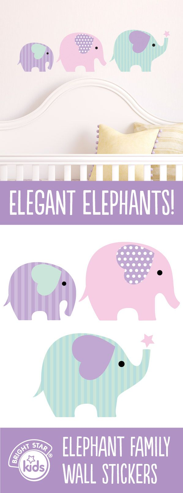 Elephant nursery wall art print mom baby dad by rizzleandrugee - Your Little One S Will Adore Having This Beautiful Elephant Family Wall Stickers In Their Room