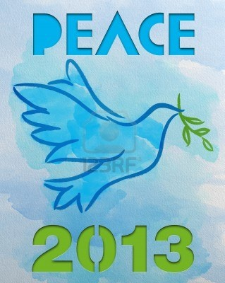 Dove – Symbol of Peace - 2013 Stock Photo