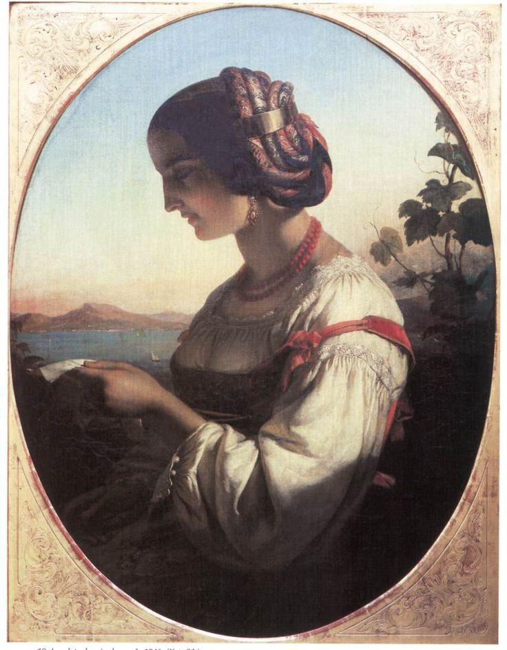Levelet olvasó olasz nő 1846.jpg (958×1228)