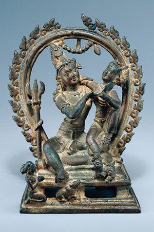 Shiva and Parvati (Uma-Maheshvara)  India; Pala period (c.8th - 12th century), 9th century  The Asia Society