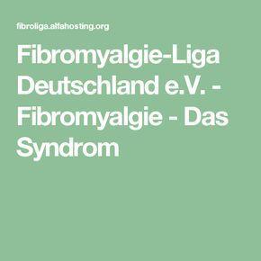 Fibromyalgie-Liga Deutschland e.V. - Fibromyalgie - Das Syndrom
