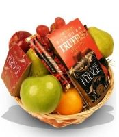 Fruit and Chocolate Hamper by Bloomex UK combines the best of both sweets!