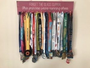 Favourite running product: medal display board