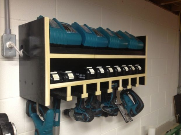 used store fixtures for garages idaho falls ideas - Makita cordless station img 0188
