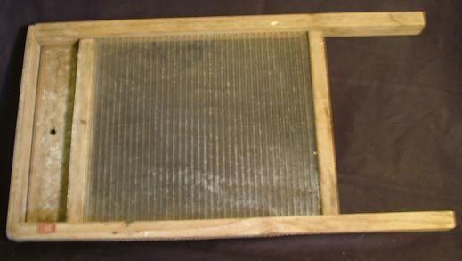 Washboard used by the Anderson family.
