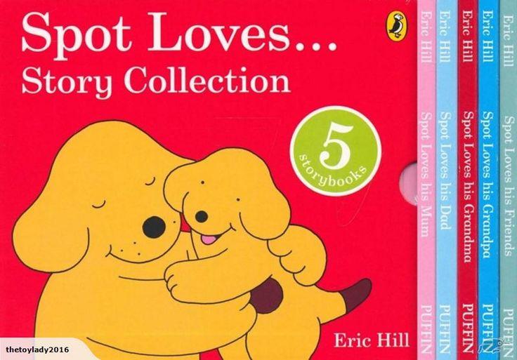 Includes five favourite Spot board books :  Spot Loves His Mum,  Spot Loves His Dad,  Spot Loves his Grandma,  Spot Loves His Grandpa ,  Spot Loves His Friends.