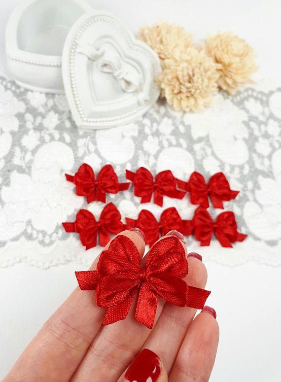 Dark red ribbon bows satin ribbon bows dark red gift bows