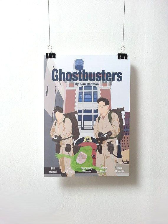 Affiche de film SOS Fantomes - Ghostbusters Poster Ivan Reitman A3 Print Illustration by Minuscule Motion Sold on Etsy Movie Poster - Movie Print Present Idea - Wish list - Christmas Present
