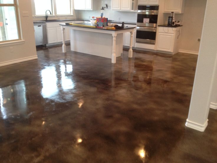 Interior stained concrete by the pros at modern concrete for Stained concrete inside house