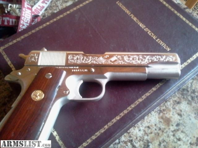 ARMSLIST - For Sale/Trade: reduced 1 of 200 1911 collector colt .45 nickle engraved