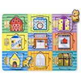 Melissa & Doug Locks and Latches Board Wooden Educational Toy: Amazon.co.uk: Toys & Games