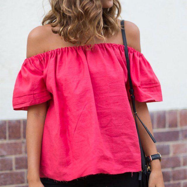 Réaliser une blouse bohème / DIY top bardot
