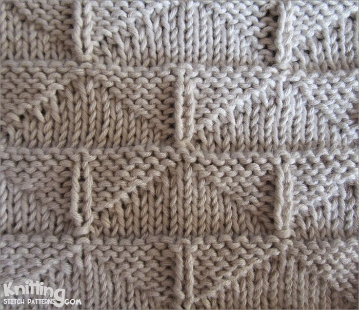 Thunderbird stitch | Pattern uses only knit and purl stitches | knittingstitchpatterns.com