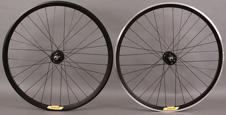 Velocity Deep V black rims fixed gear wheelset NMSW Rear fx/fx [72091] - $179.00 Velomine.com : Worldwide Bicycle Shop, fixed gear track bike wheelsets campagnolo super record vintage bike