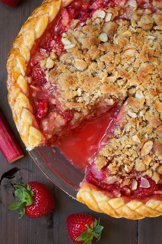 Strawberry Rhubarb Pie with Almond Crumble - this was one of my favorite pies ever!