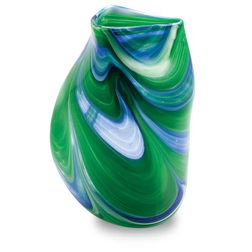 Kingfisher Triple Swirl Vase, part of a range of vases, bowls, lighting solutions and more. Purchase direct with international shipping: http://www.mdinaglass.com.mt/en/products/webshop/bycategory/355/price/asc/15/1/kingfisher.htm#.VayoICqqqko