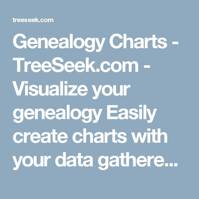 Genealogy Charts - TreeSeek.com  - Visualize your genealogy  Easily create charts with your data gathered from FamilySearch.org. Login to begin creating your charts.    Login now to create your chart