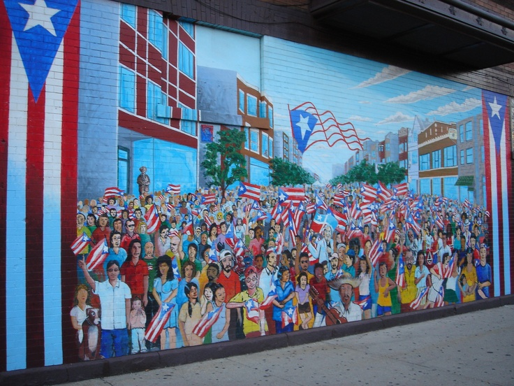 Mural in humboldt park neighborhood of chicago puerto for Mural in chicago illinois