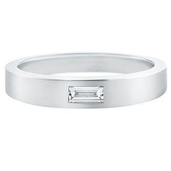「ワンバゲット・ダイヤモンド・リング」 ハリーウィンストンの結婚指輪・マリッジリング一覧。
