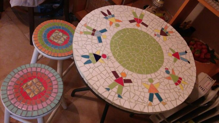 Mosaic Coffee table and chairs