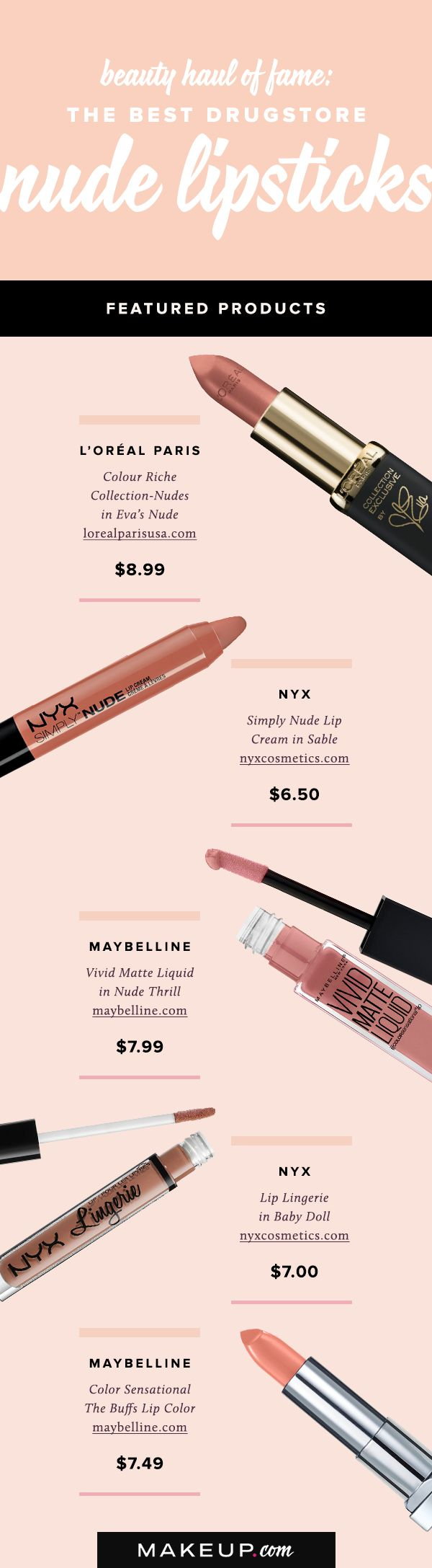 Nude lipstick is having a major moment in the beauty world, and you can get some of the best products at your local drugstore! Here are our picks for the best affordable nude lipsticks around.