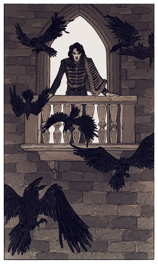 The Raven lord (c) Lenka Simeckova Illustration