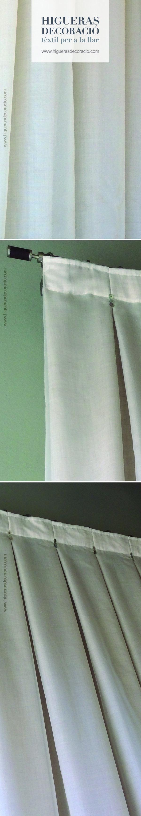 Consigue aire fresco con cortinas de tejidos naturales como el algodón o el lino. Las barras son fáciles de instalar y decorativas.  - www.higuerasdecoracio.com