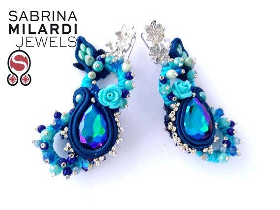 Orecchini Romantica in blue di SabrinaMilardiJewels su Etsy