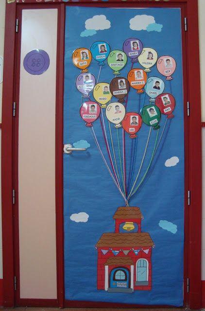 Mejores 484 im genes de decoracion puertas en pinterest for Decoracion puerta aula infantil