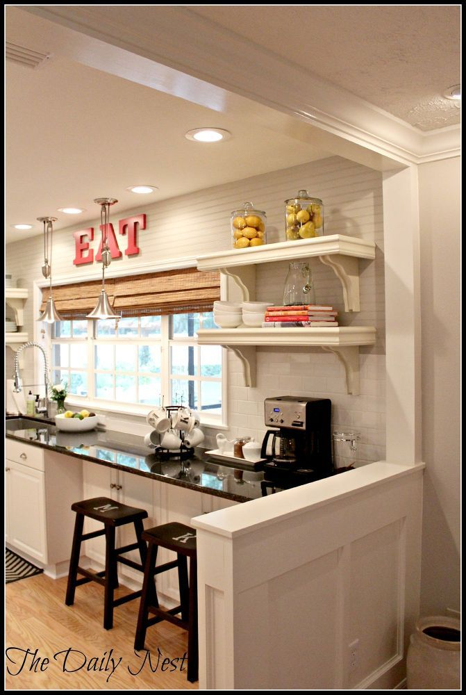 25 best ideas about half wall kitchen on pinterest half for Half island kitchen