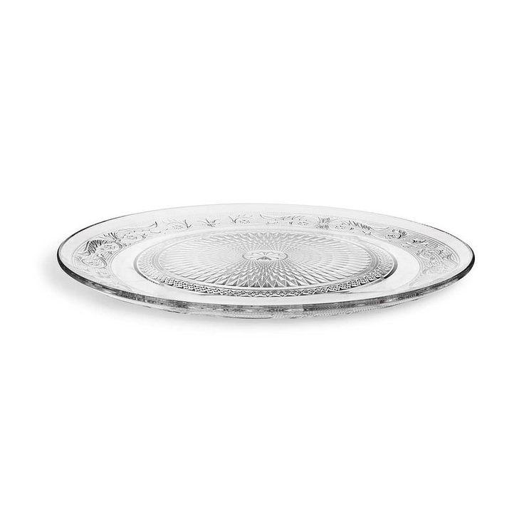 Platzteller Glas klar ca D:33 cm