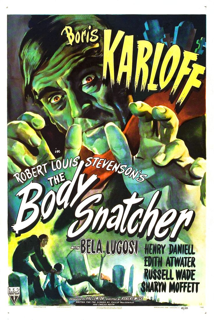 Karloff and Lugosi were paired in Val Lewton's production of the Robert Louis Stevenson tale. It was directed by Robert Wise.