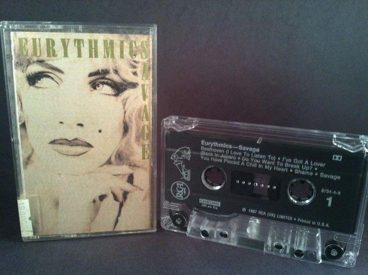 EURYTHMICS - savage - CASSETTE newwave